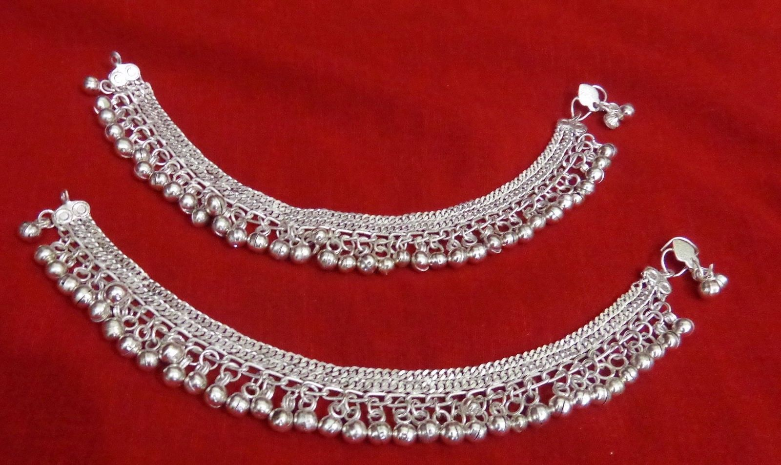 Tribal Kuchi Silver Bells Lot 2 Anklet Ankle Bracelet Belly Dance Jewelry India | eBay
