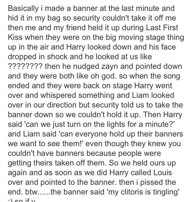 This was the reason Harry pointed into the crowd showing Louis the other day laughing... *repost*