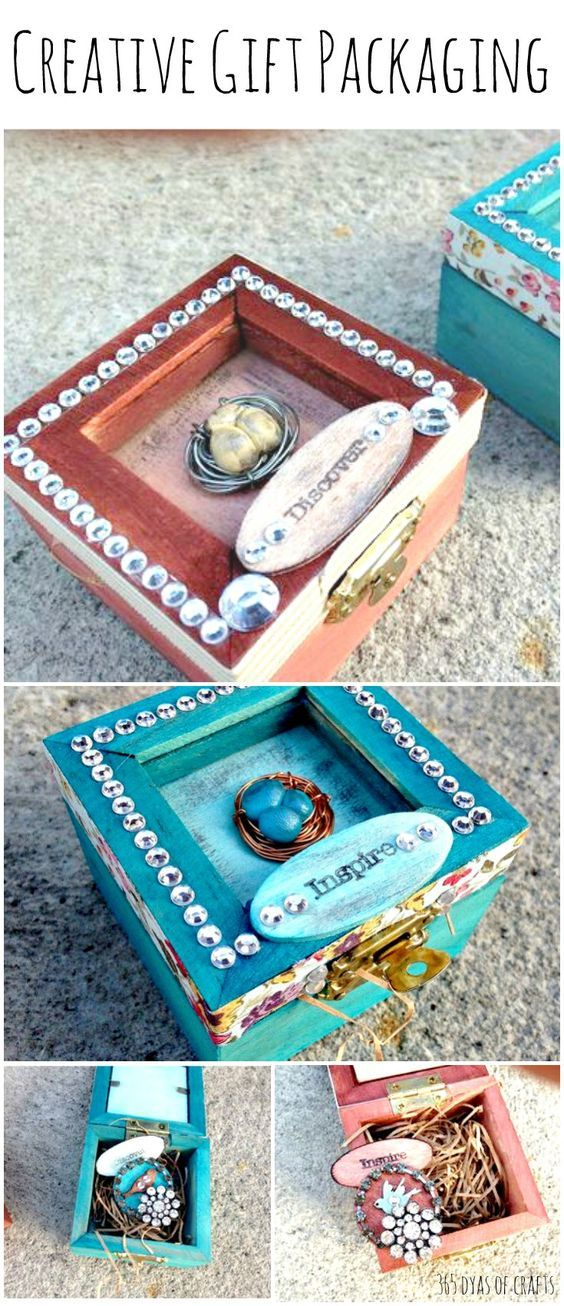 Make a bird nest shadow box for creative gift packaging.  The gift recipient will be as delighted with the gift as the packaging.  The box is the perfect size for giving jewelry or to tuck in a gift card.:
