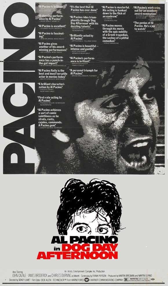 TARDE DE PERROS (1975) Director: Sidney Lumet. Intérpretes: Al Pacino,