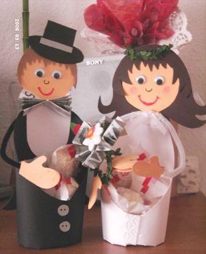 Hochzeitspaar aus Tonpapier  creadoocom  Geldgeschenke