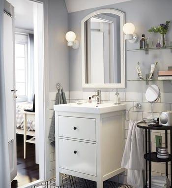 Meuble lavabo 2 tiroirs Hemnes Hagaviken par Ikea
