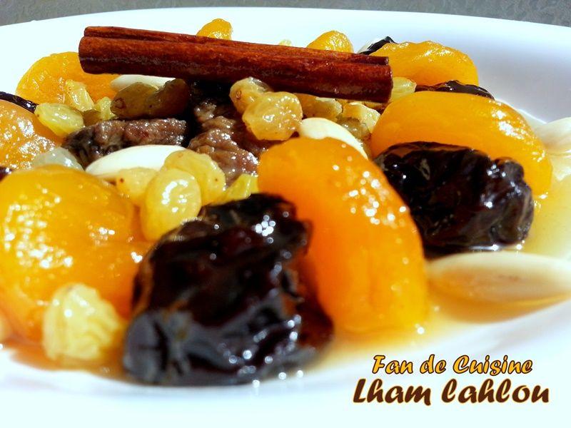 Lham Lhlou (tajine sucré aux pruneaux)
