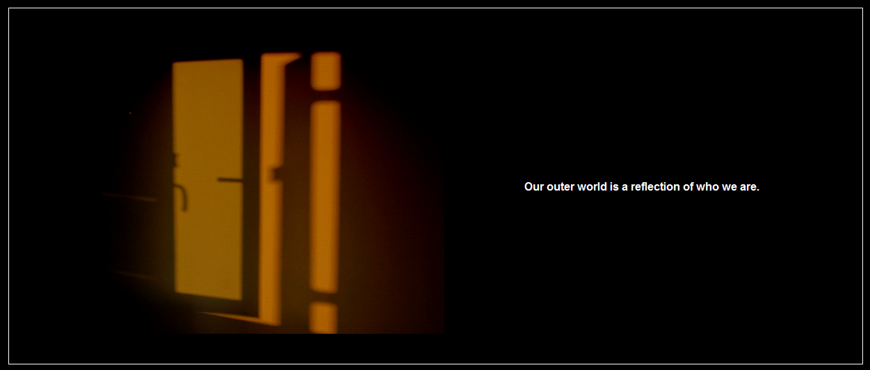 The evening sun reflects the shadow of my window on to the wall. And I reflected on its wisdom. A thought visualized.