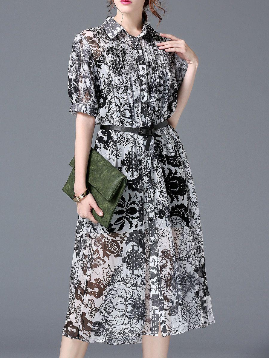 Adorewe stylewe midi dresses designer ccsu gray casual short