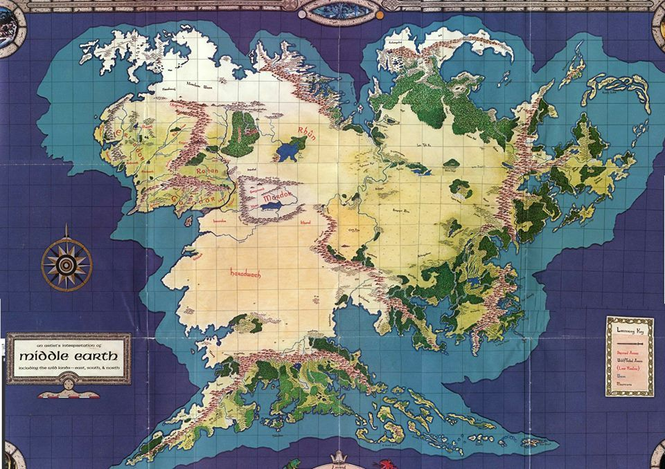 Middle earth, or in Sindarin Endor, and in The Book of Lost Tales