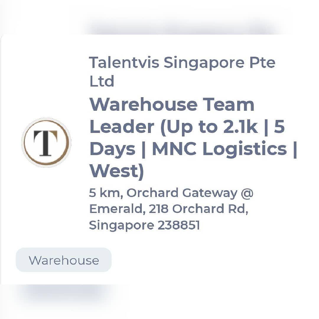 Job Of The Day Warehouse Team Leader Jobsearch Jobs Jobshiring Jobsearchig Jobsite Jobshop Jobspg Jobsecuri Job Security Job Seeking Job Satisfaction