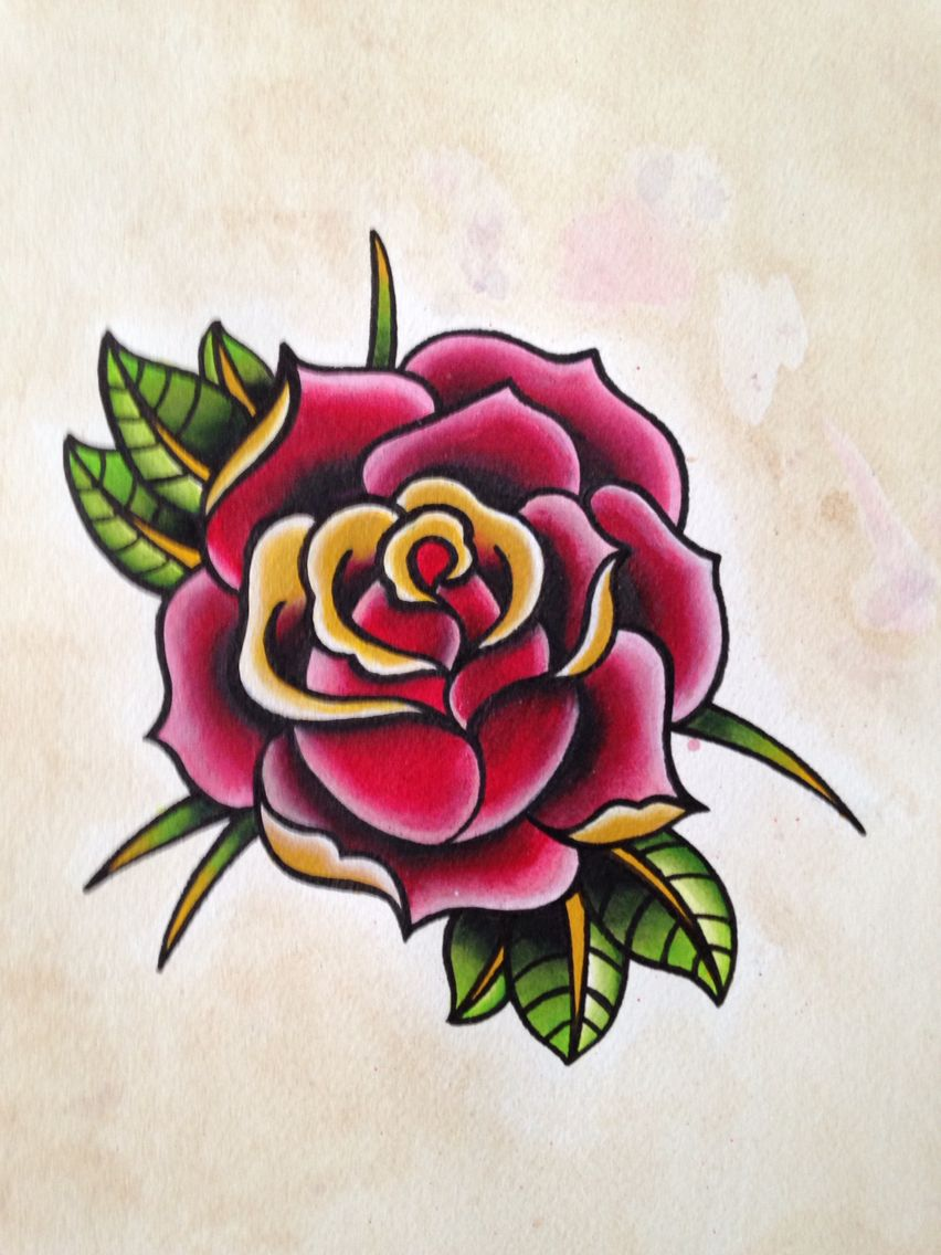 Neo Traditional Rose Traditional Rose Tattoos Traditional