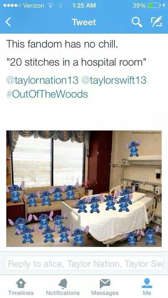 Taylor Swift  Stitches In A Hospital Room