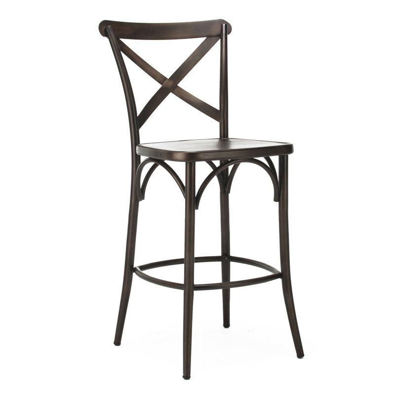 Design Lab Mn Cross Back 24 Inch Seat Counter Stool Set Of 2