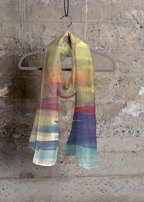 Mens Silk Pocket Square - Lotus Rainbow Silk Square by VIDA VIDA VHCPH6eR
