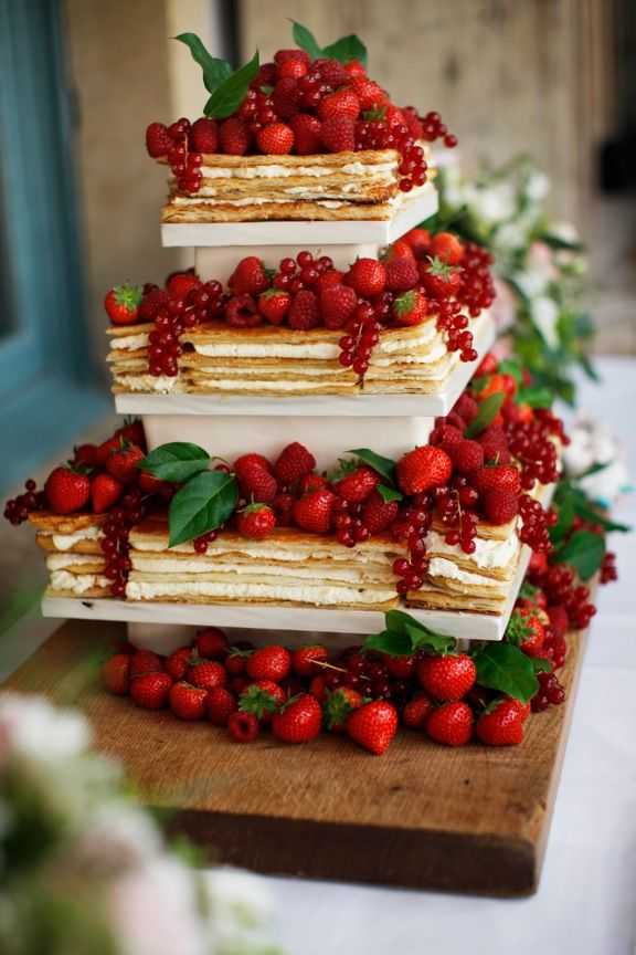 Mille Feuille Wedding Cake By Bath Company Set Up At Babington House Brett