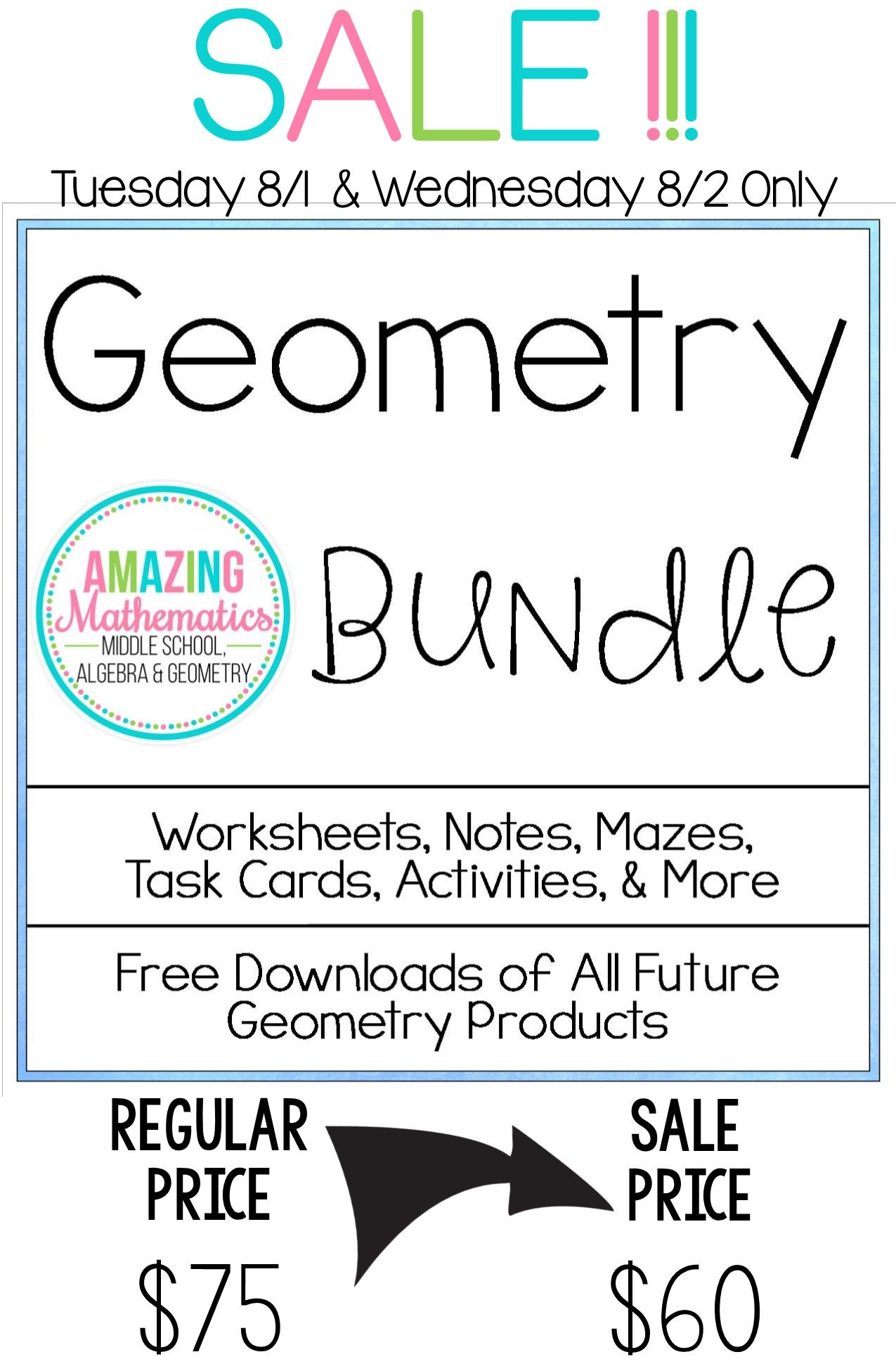 Geometry Bundle All My Geometry Products For 1 Low Price