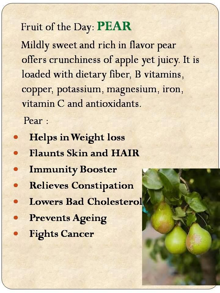 Pear benefits | Pears benefits Health and nutrition ...