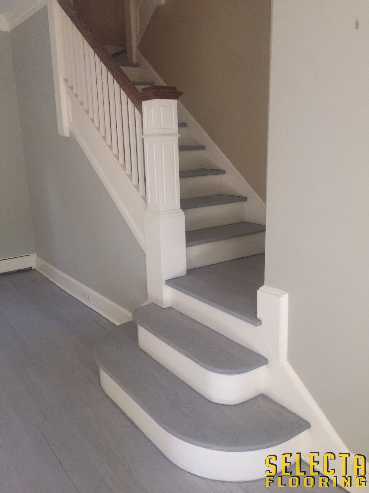 Best Rubio Monocoat Staircase In Ash Grey With Aqua Pre Color 400 x 300