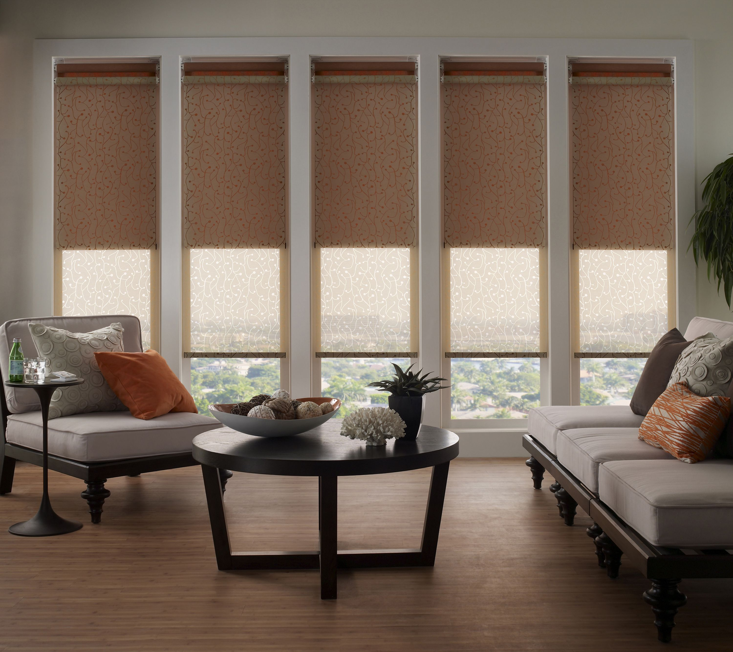 Lutron motorized roller shades dual shade blackout for Motorized blackout roller shades