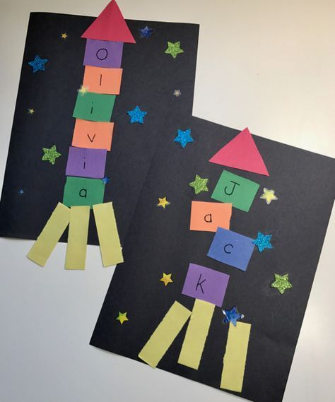 Outer Space Crafts: Alphabet Spaceship Craft