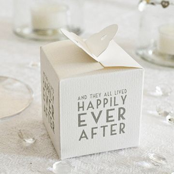 'Happily Ever After' Wedding Favor Box