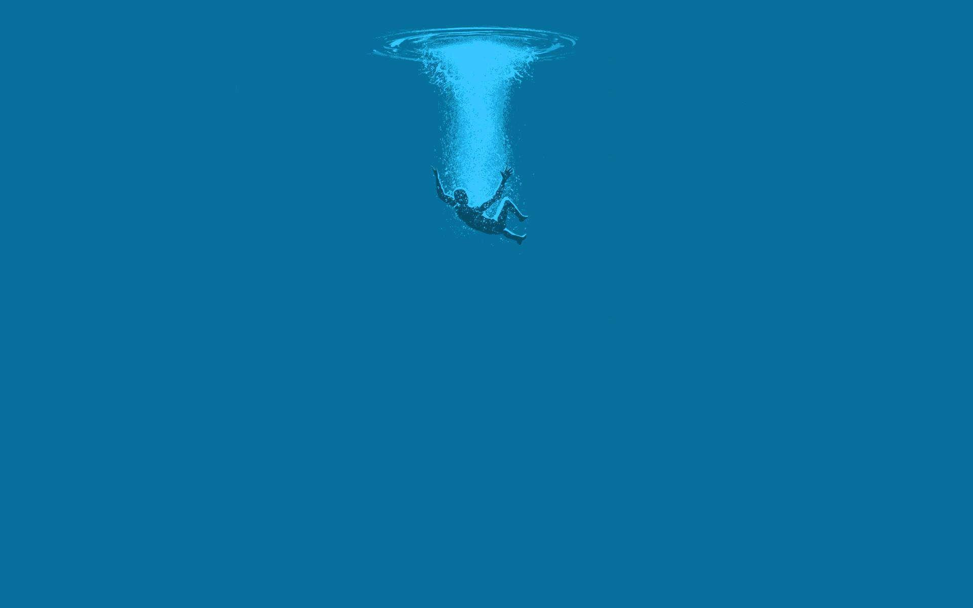 Plunging Into The Ocean 1920x1200 Minimalist Desktop Wallpaper