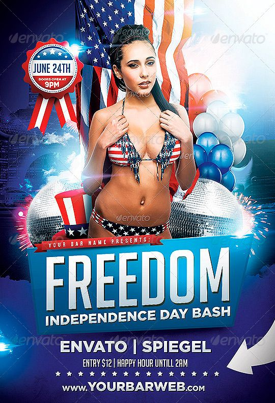 Freedom Memorial And Independence Flyer Template - Http://Www
