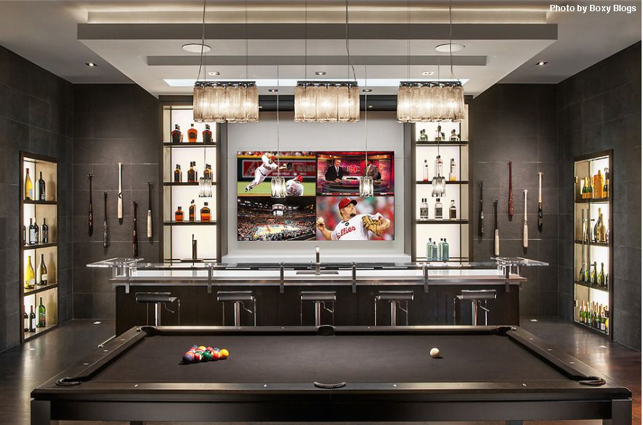 Used Man Cave Bar : Basement designs you should copy modern man cave pool table