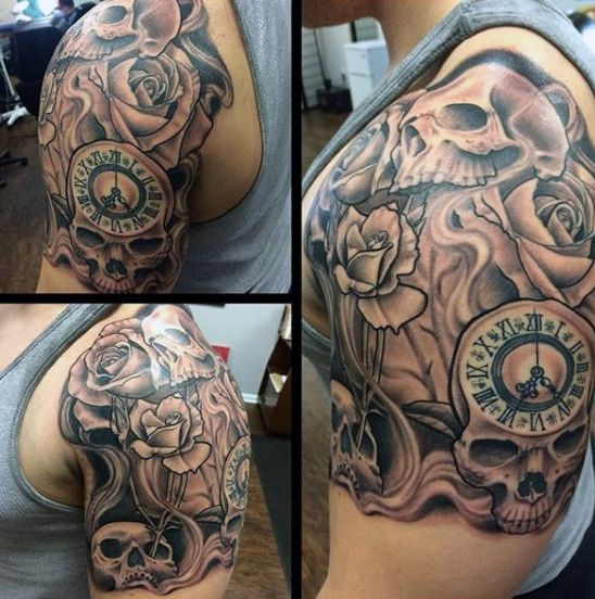 70 Quarter Sleeve Tattoo Designs For Men Masculine Ink Ideas Mini