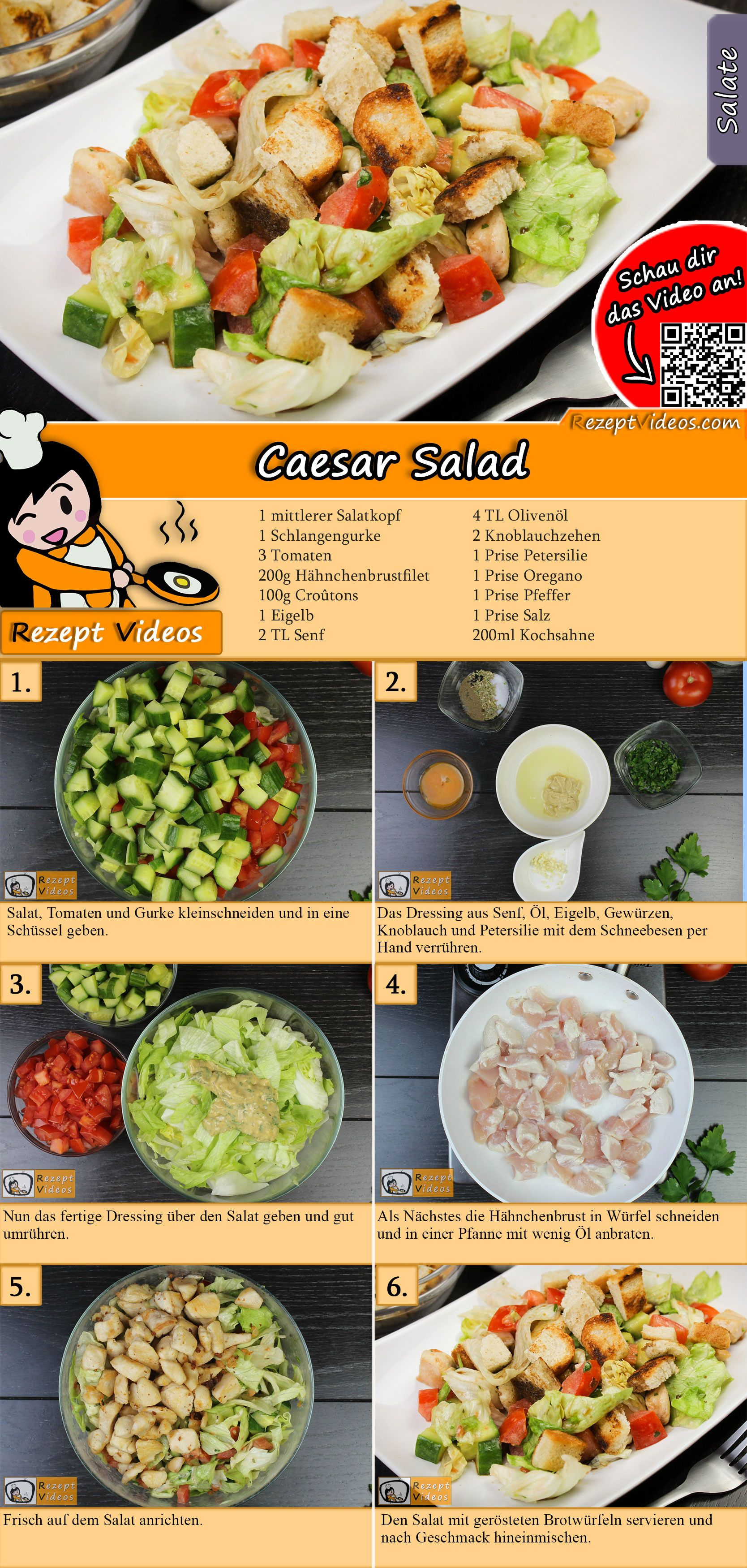 Photo of Caesar Salad Recipe with Video – Quick and Easy Salad Recipes