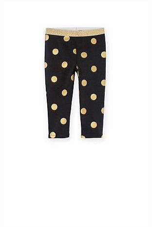 Baby Girl's New In Clothes - Country Road Online - Gold Spot Legging - Country Road