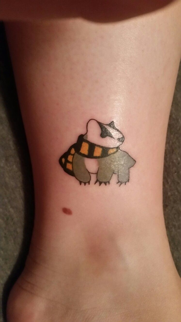 My Harry Potter Tattoo Ive Always Belonged To Hufflepuff