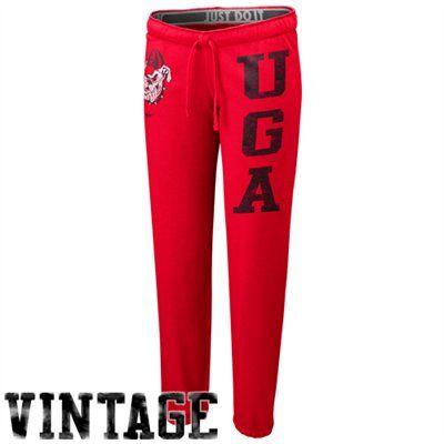Nike Georgia Bulldogs Ladies Red Vault Sweatpants