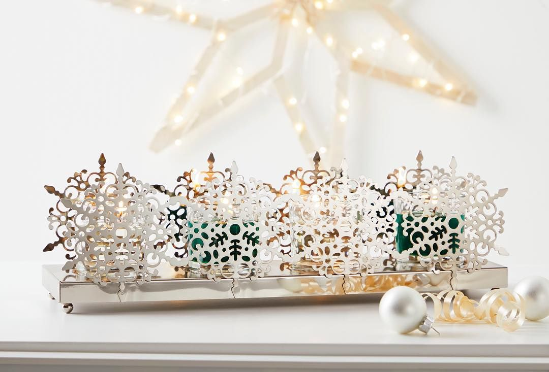 Pin By Jessica Mae On Partylite Snowflake Candle Holders Party Lite Candles Partylite