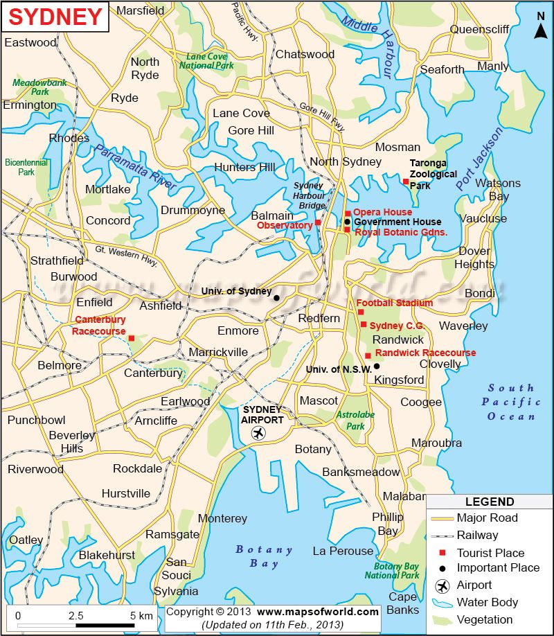 Map Of Sydney Australia In 2020 Sydney Map Sydney