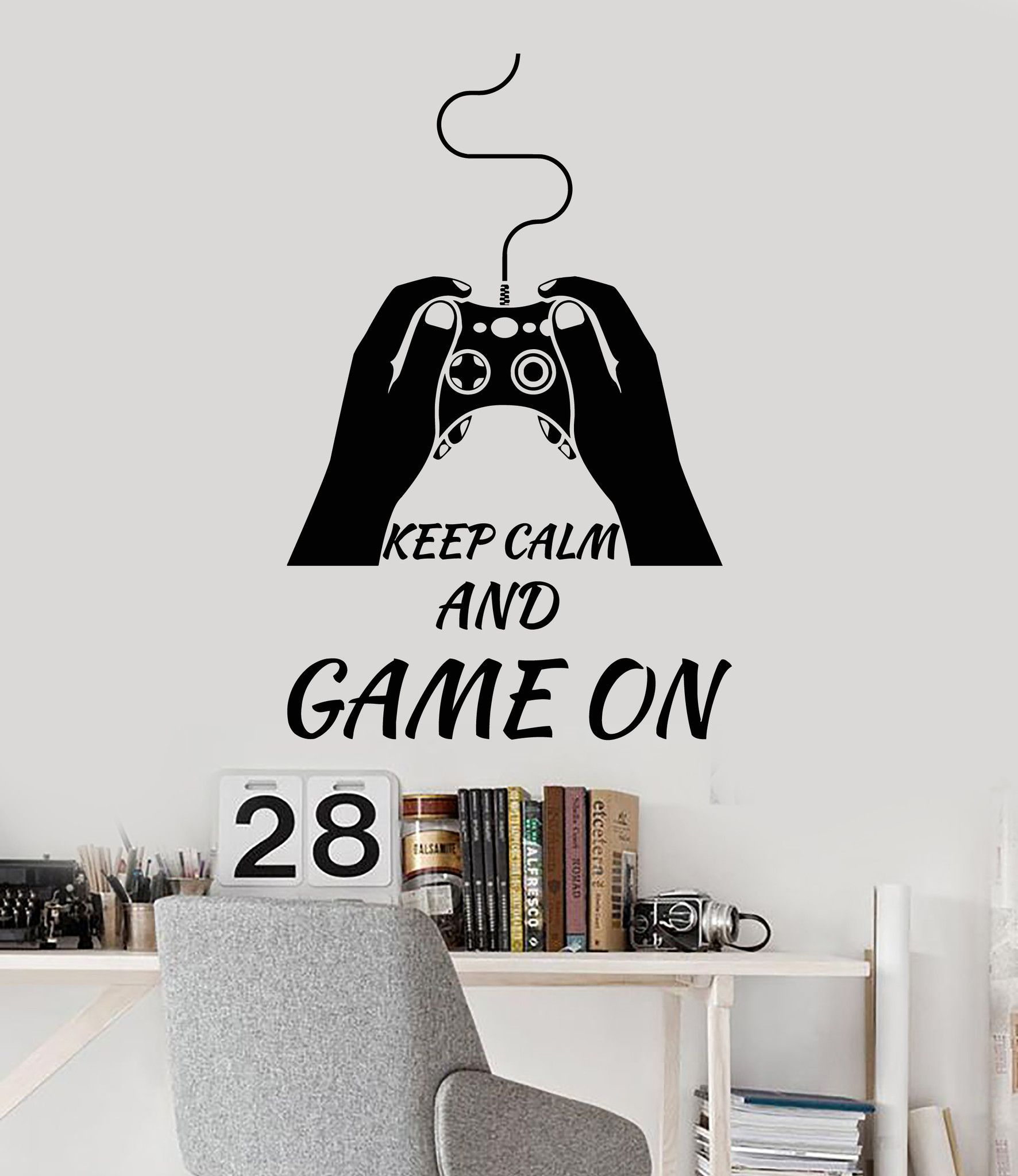vinyl wall decal video game quote play room gamer stickers mural