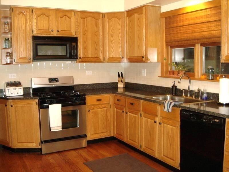 Kitchen Backsplash With Oak Cabinets Gallery Manificent Kitchen
