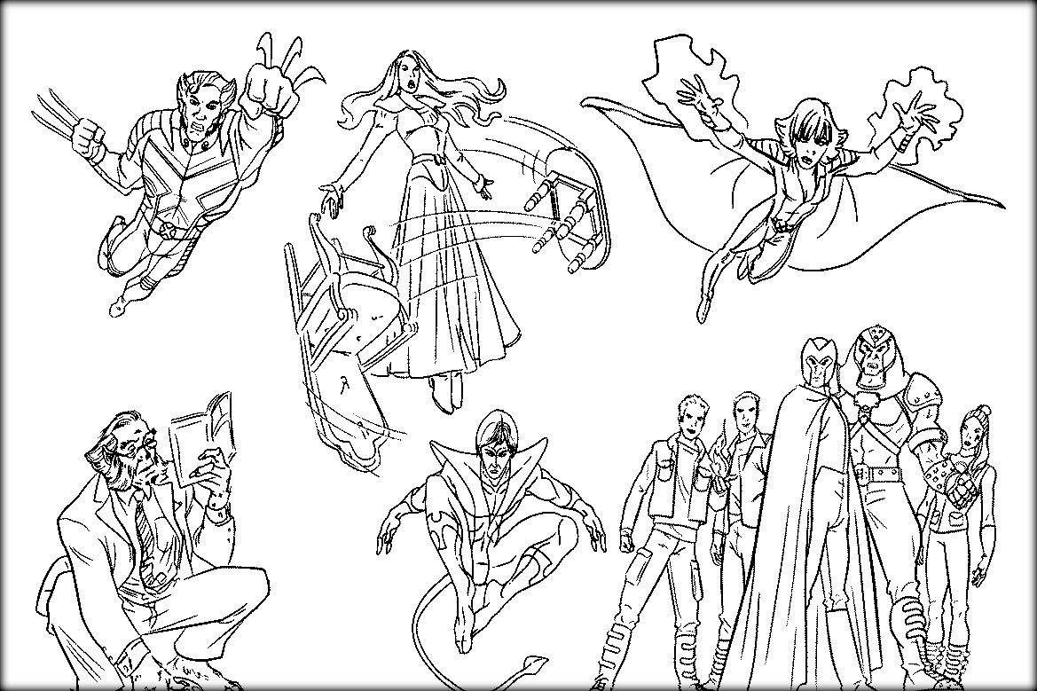 Printable XMen Coloring Pages For Boys Coloring pages