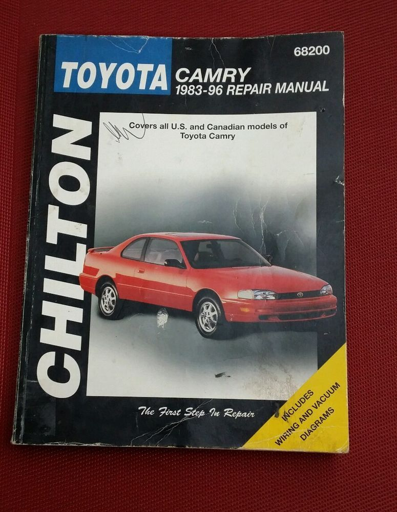 Chilton Repair Manual Book Toyota Camry 1983 1996 All Models Us