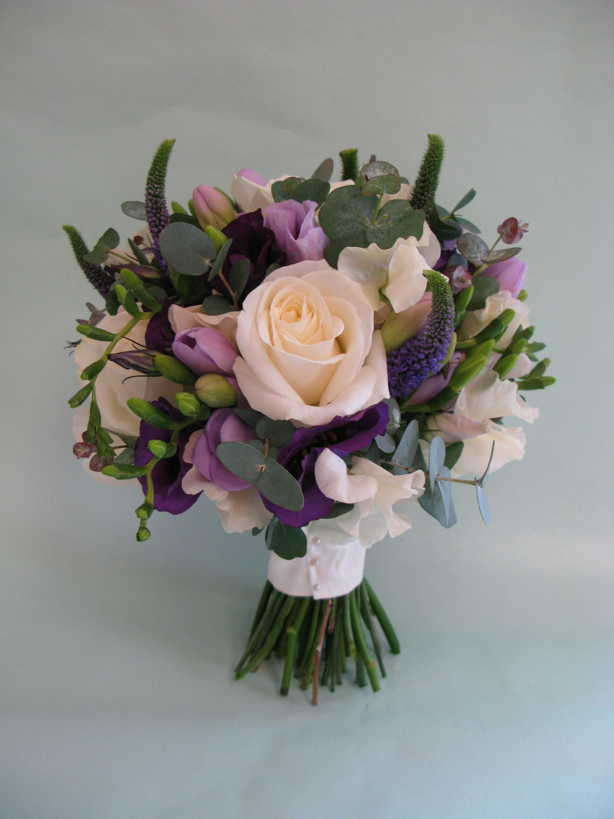 Summer bouquet in purple and cream thus one has eucalyptus and summer bouquet in purple and cream thus one has eucalyptus and smells so nice izmirmasajfo Choice Image