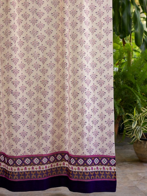 Sultans Palace Cp Moroccan Bohemian Print Curtain