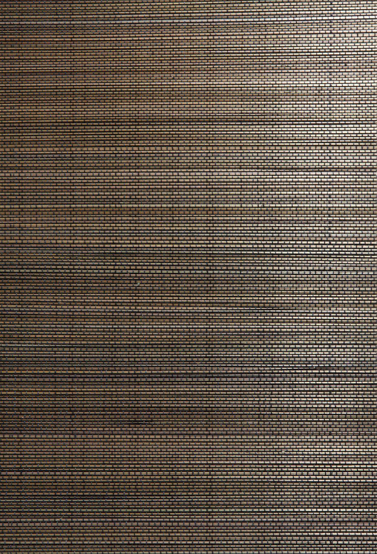 Kenneth James 63 54713 Manami Grass Cloth Wallpaper, Charcoal