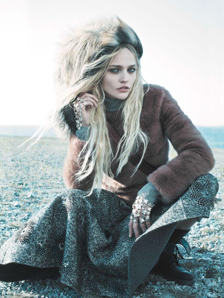 Sasha Pivovarova  for Vogue US September 2014