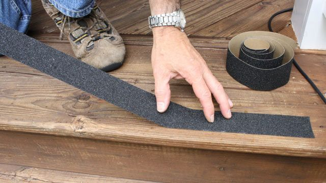 Slippery Stairs: Peel And Stick Abrasive Strips