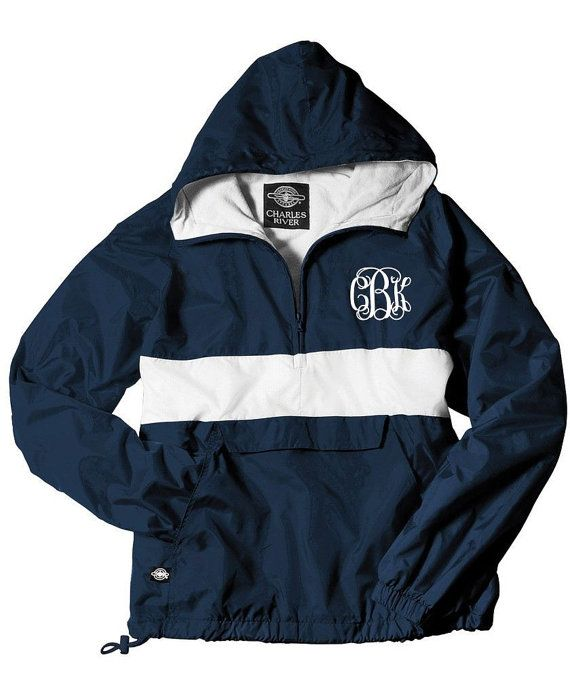 Yellow Monogrammed Personalized Half Zip Rain Jacket Pullover by Charles River Apparel