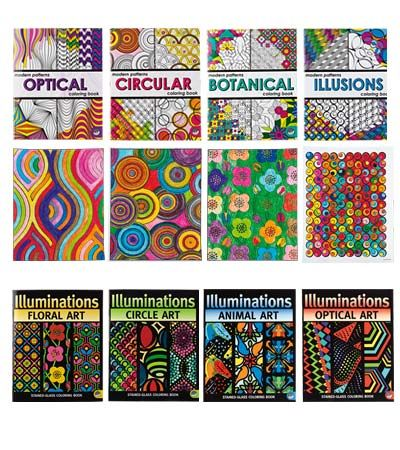 Illuminations or Modern Patterns Coloring Books & Markers on ...