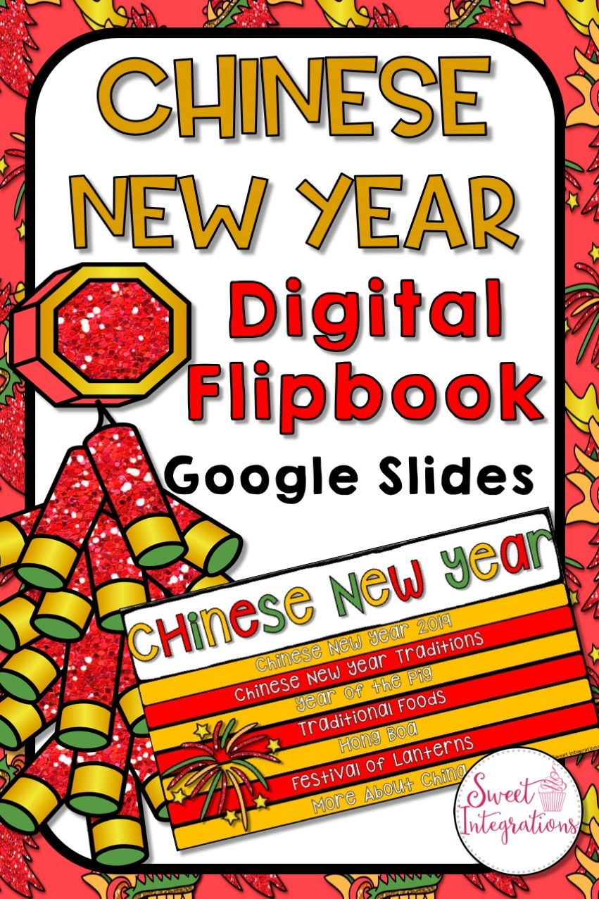 Chinese New Year 2020 Digital Google Slides Flipbook