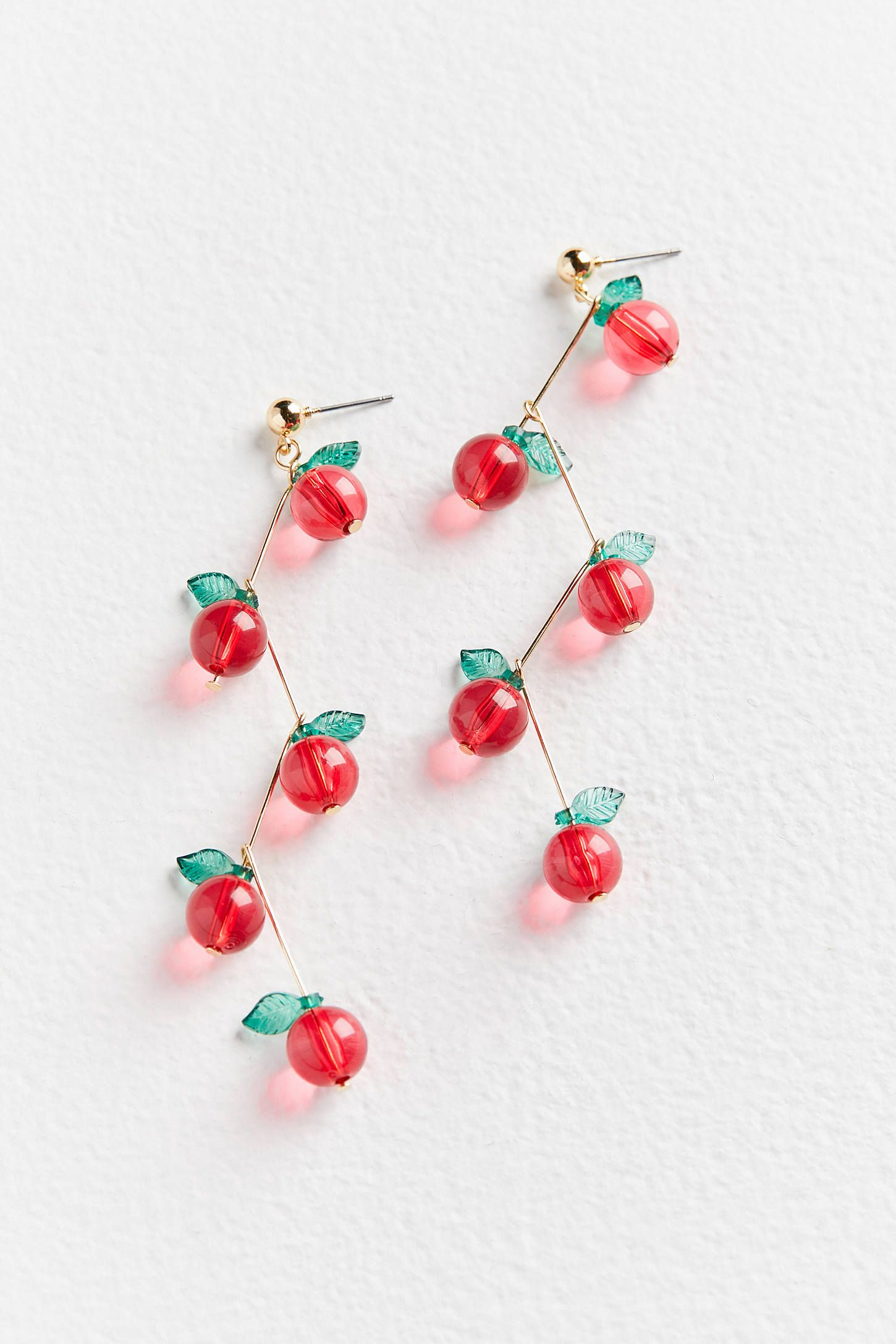 f3547eac1b7900 Cherry Drops, Statement Earrings, Drop Earring, Belly Button Rings, Urban  Outfitters,