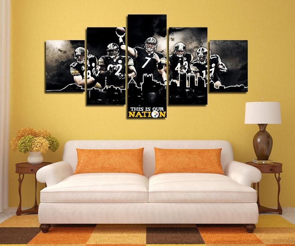 Pittsburgh Steelers Canvas Painting Wall Art | Wall Arts | Pinterest