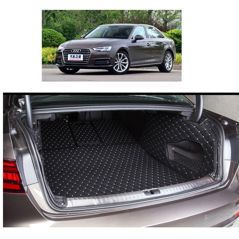 Custom Fit Fiber Leather Car Trunk Mat For Audi A4 B9 2016 2017 Cargo Mat Cargo Liner Cargo Mat Cargo Liner Interior Accessories