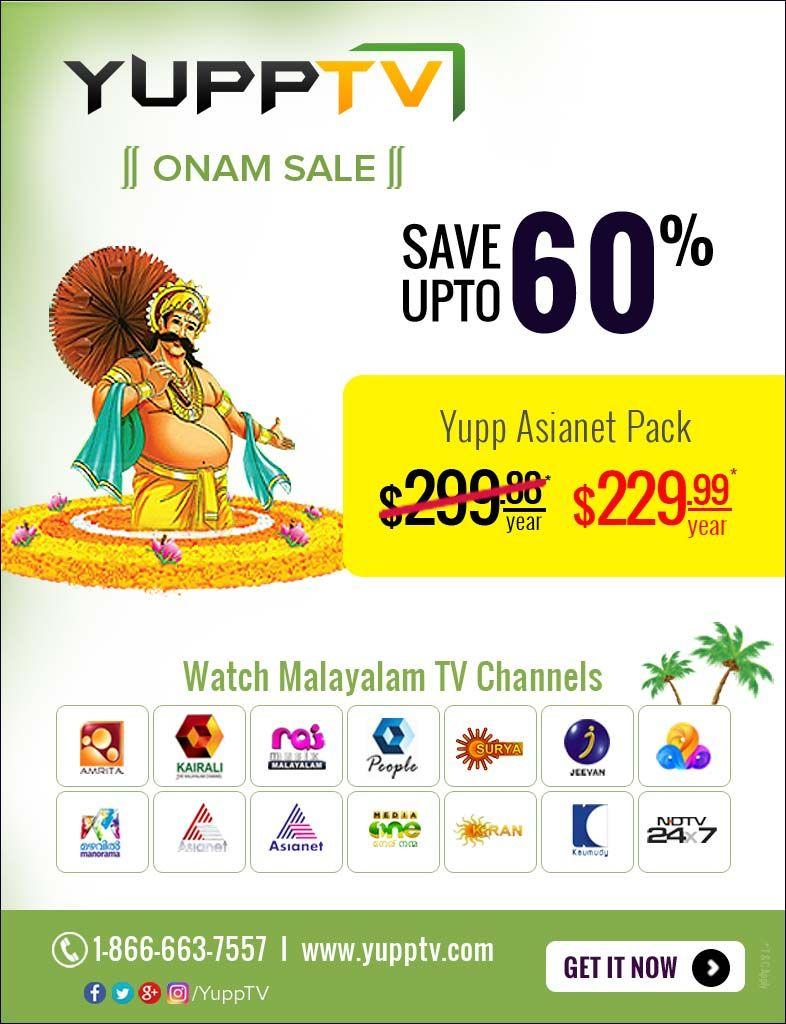 YuppTV offering the Best #OnamSaleOffer for USA People for