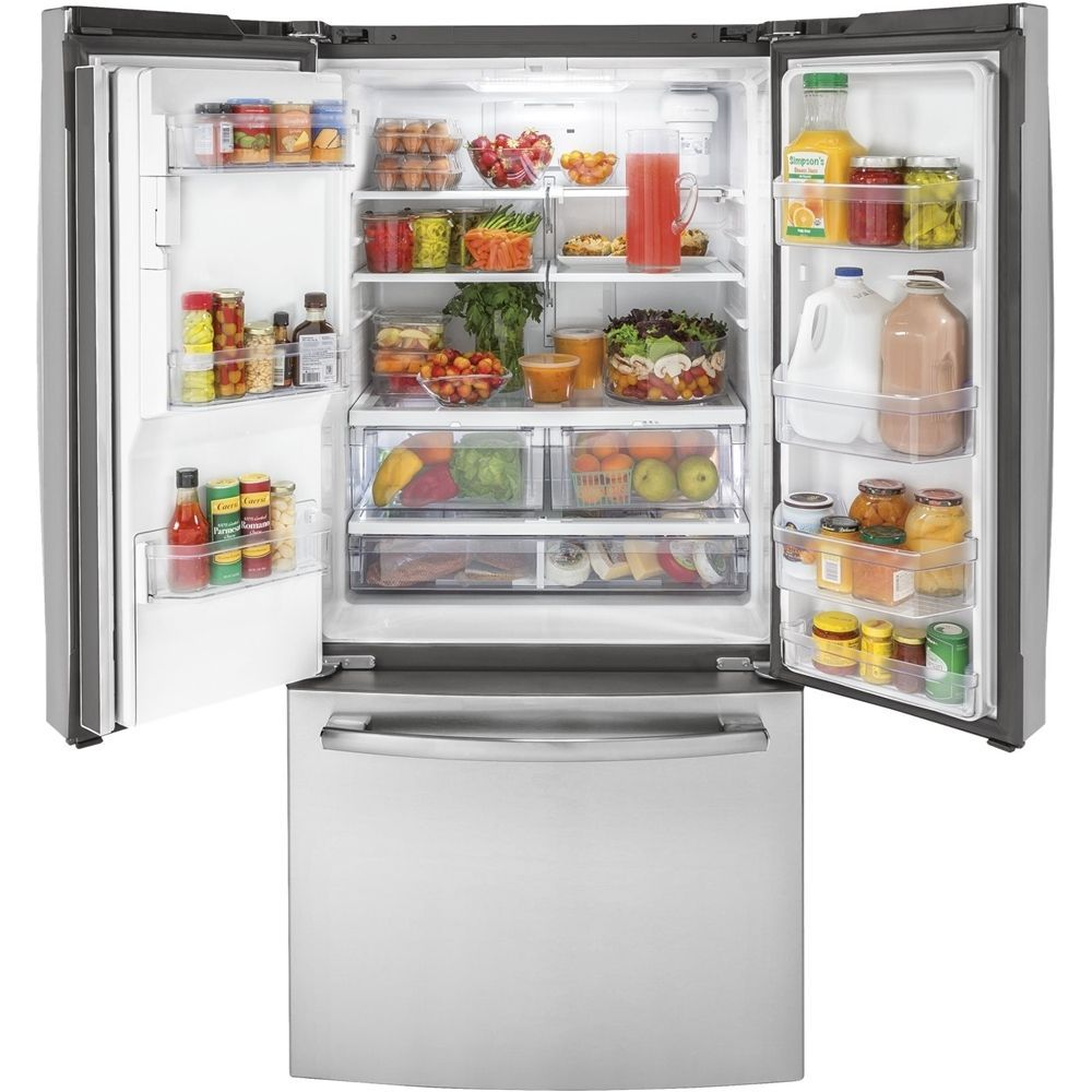 Ge 175 Cu Ft French Door Counter Depth Refrigerator Stainless