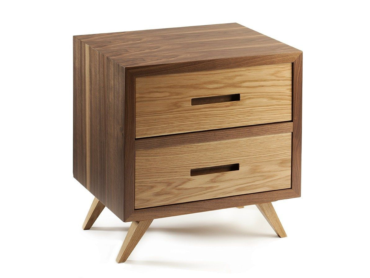 Square Wooden Bedside Table With Drawers E Ettero Collection By Mambo Unlimited Ideas